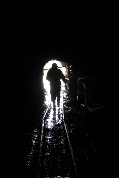 The light at the end of the tunnel...the good kind. Potosi Mine Tour