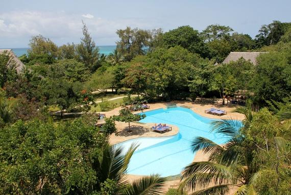 Huge pool at Kinondo Kwetu, Kenya