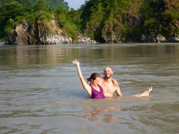 Seti River swimming