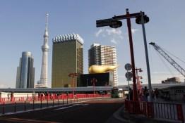 Tokyo Skytree and Asahi Flame Tokyo