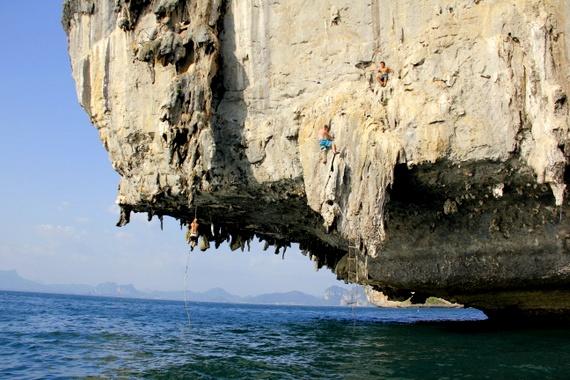 deep water solo climbing railay