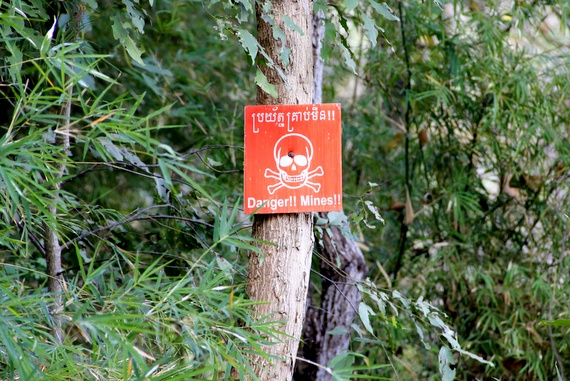 land mine warning