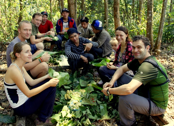 Lunch on our Trek in Laos