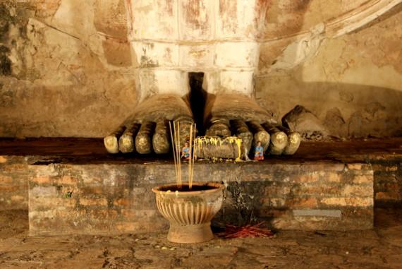 Buddahs Feet in Sukothai