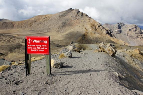 Rocks of Tongariro Flying Rocks