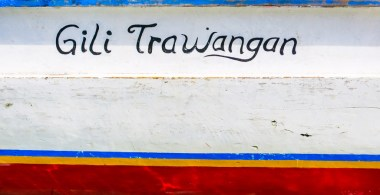 gili T painted boat