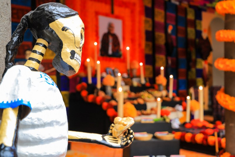 Celebrating Day of the Dead in Mexic