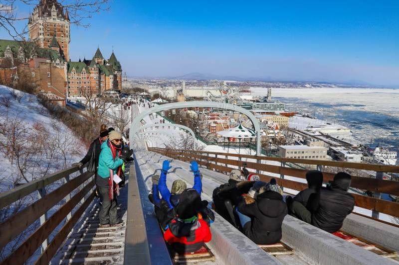 Toboggan downtown Quebec