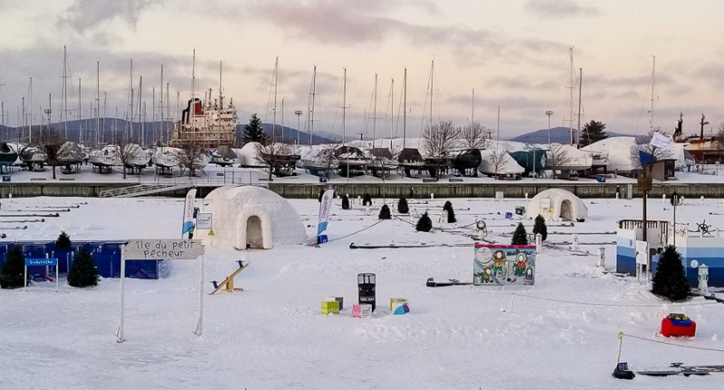 Village Nordik at Carnaval de Quebec at world's biggest winter carnival