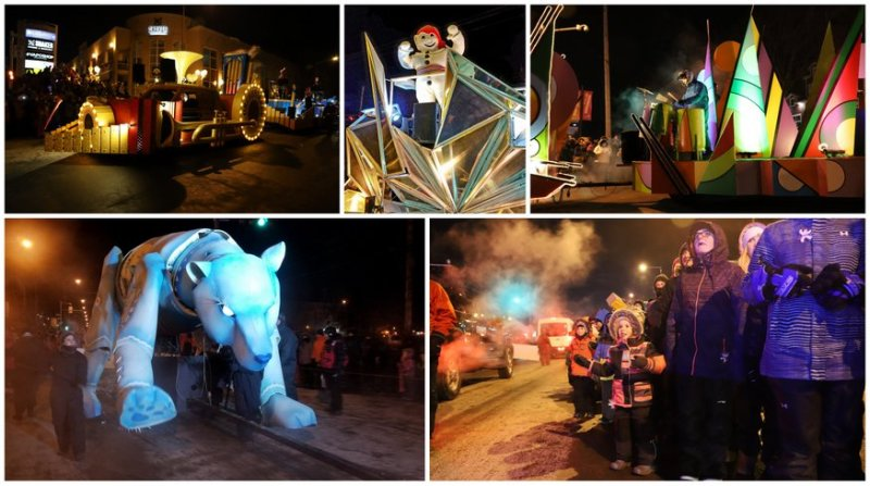 The world's biggest winter carnival's night parade