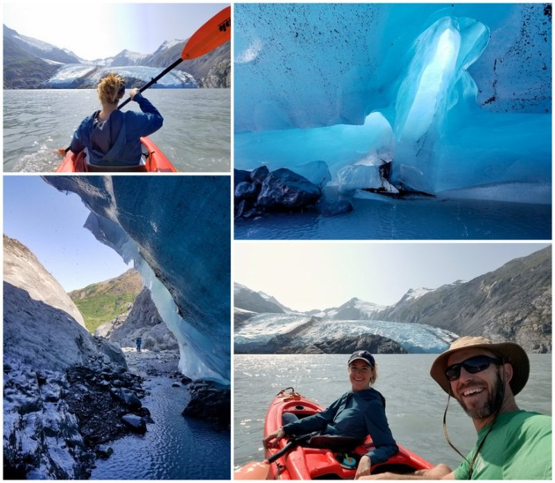 Kayaking to Portage Glacier, Alaska