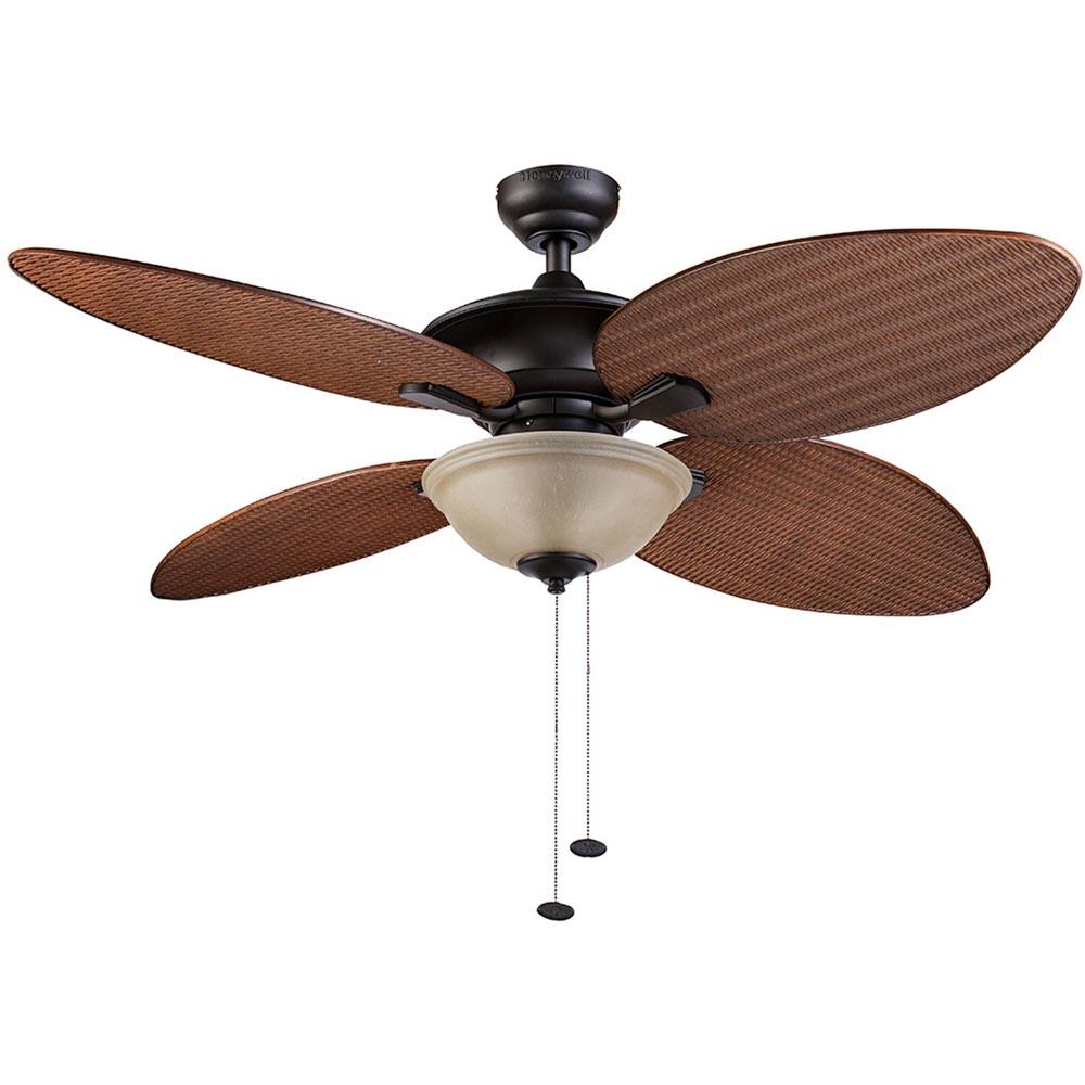 honeywell sunset key outdoor indoor ceiling fan bronze 52 inch 10263