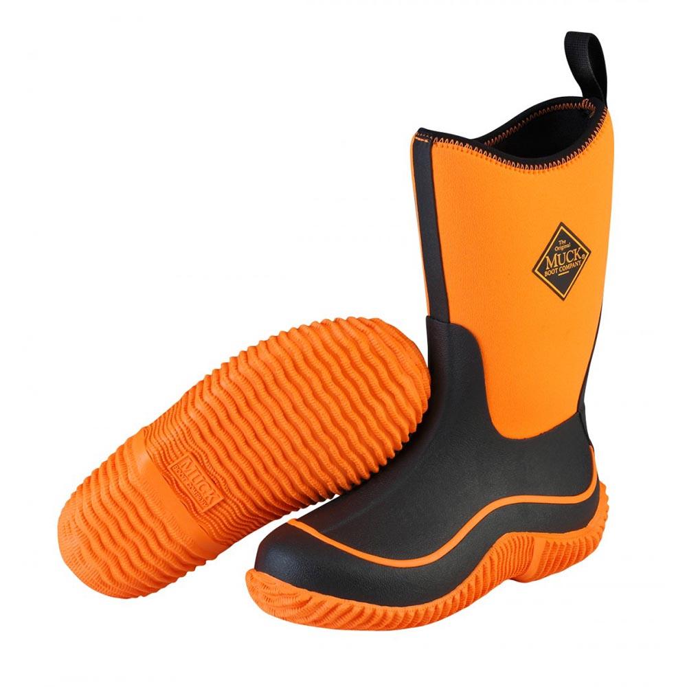 Muck Boots Kbh 700 Kid S Hale Outdoor Sport Boot Neon Black Orange