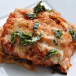 For Your Honey on V-Day… Eggplant Parmesan Linguine Bake (REDUCED FAT)