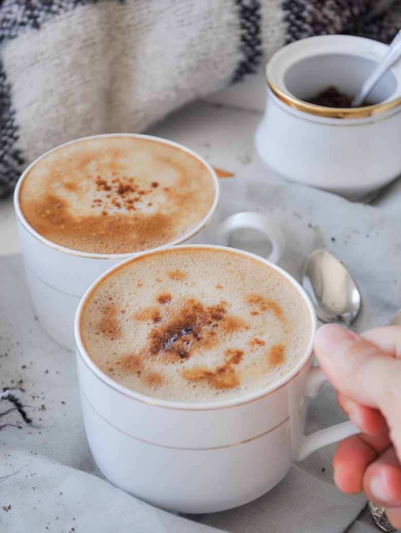 Vegan Indian Style Cappuccino Beaten Coffee