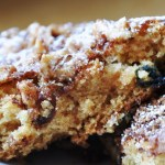 Eggless Blueberry Coffee Cake… with Walnuts and Cinnamon (LOW FAT & 135 Calories)