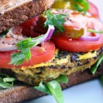 "The Ultimate ""Healthy"" Veggie Burger Sandwich… with a secret ingredient!  Shhhh…"