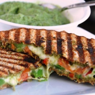 The Montreal Panini… Vegetarian Bell Pepper Pesto Panini
