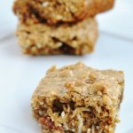 Coconut Pecan Blondies (Reduced Fat & 148 Calories)
