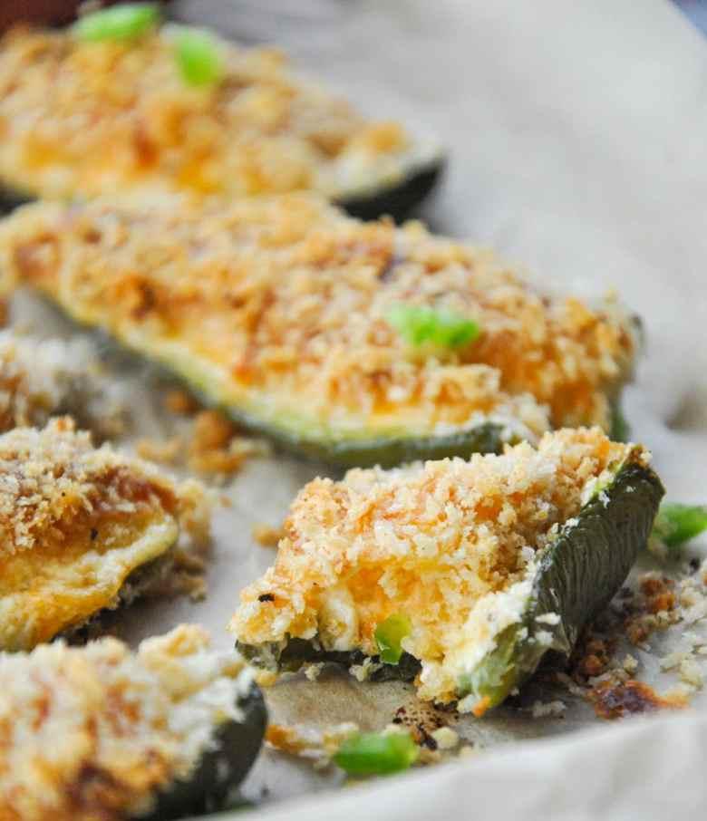 Baked Jalapeno Poppers (vegetarian, gluten-free option)