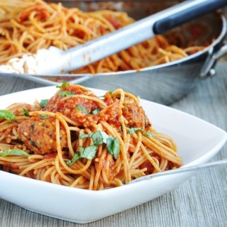 Spaghetti with Vegetarian Quinoa Meatballs… here's to second best!