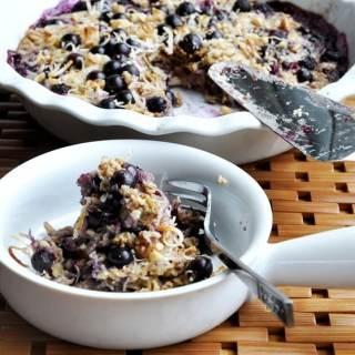 Blueberry Banana Coconut Oatmeal Bake… bressert!