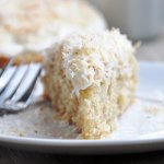 Triple Coconut Cake w/Coconut Cream Cheese Frosting