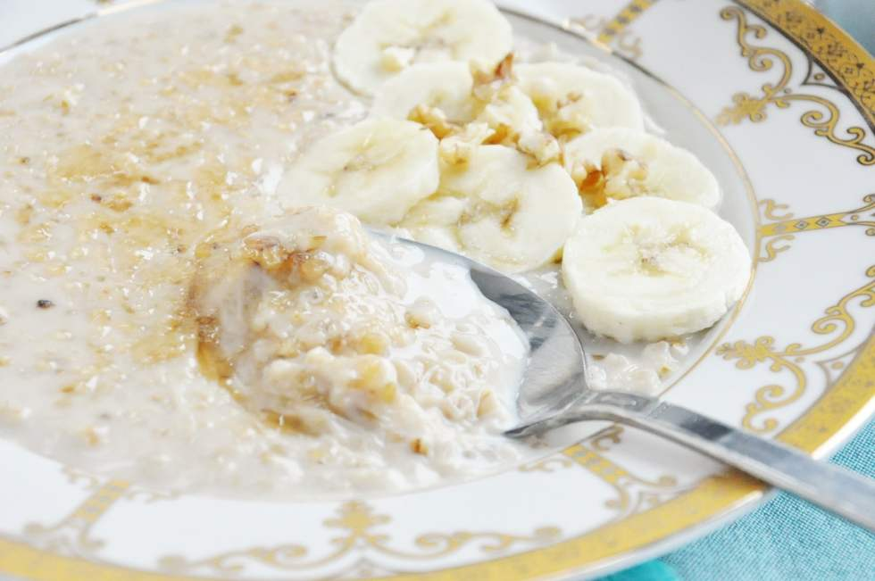 Classic Banana Walnut Steel Cut Oats (36)