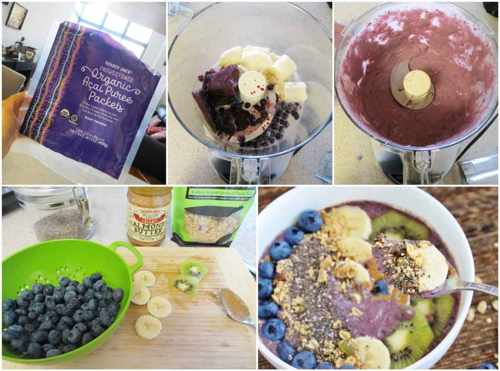 Blueberry Banana Acai Bowl step-by-step