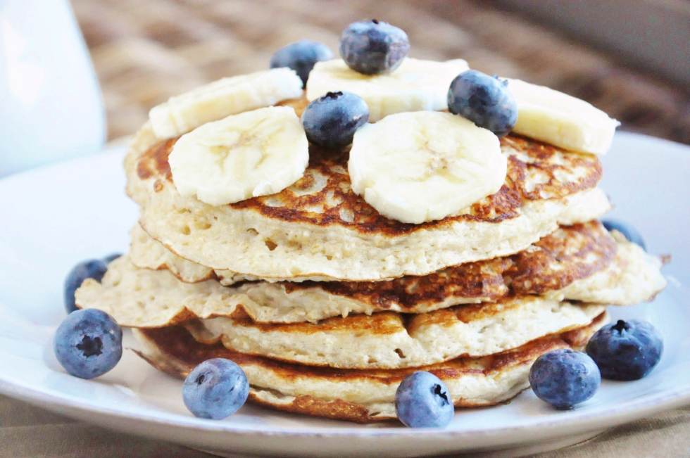 High Protein Banana Bread Pancakes (2)