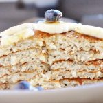 15 Minute Banana Bread Pancakes (healthy, high protein, refined sugar free, 100% whole grain, 7 ingredients or less)