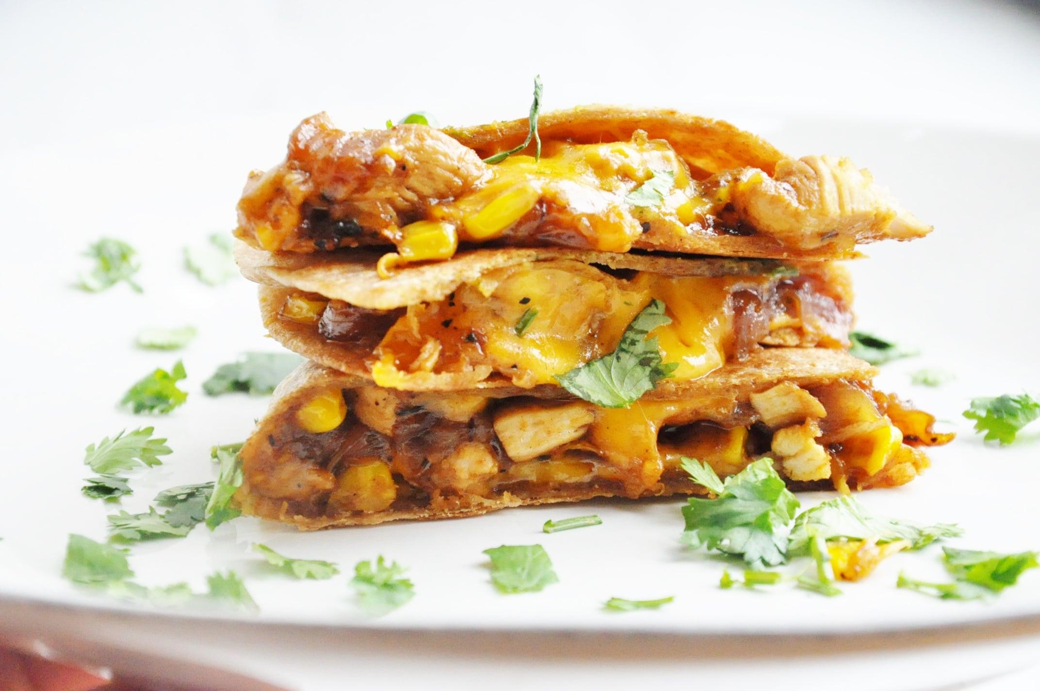BBQ Chicken & Corn Quesadillas
