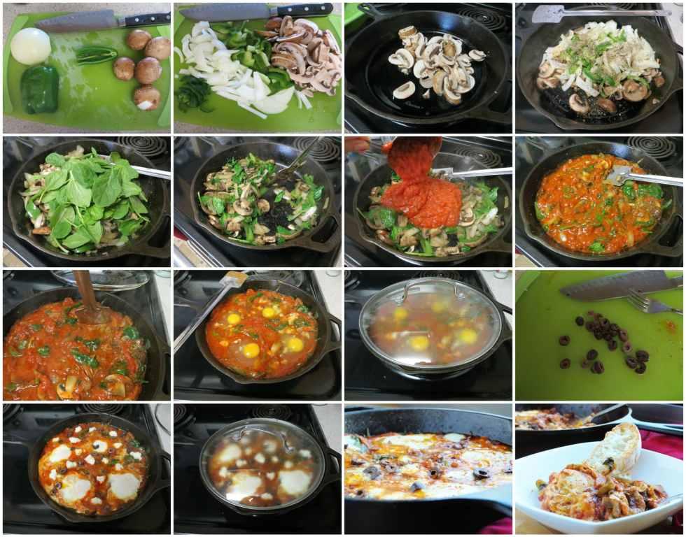 Veggie Pizza Skillet Eggs step-by-step