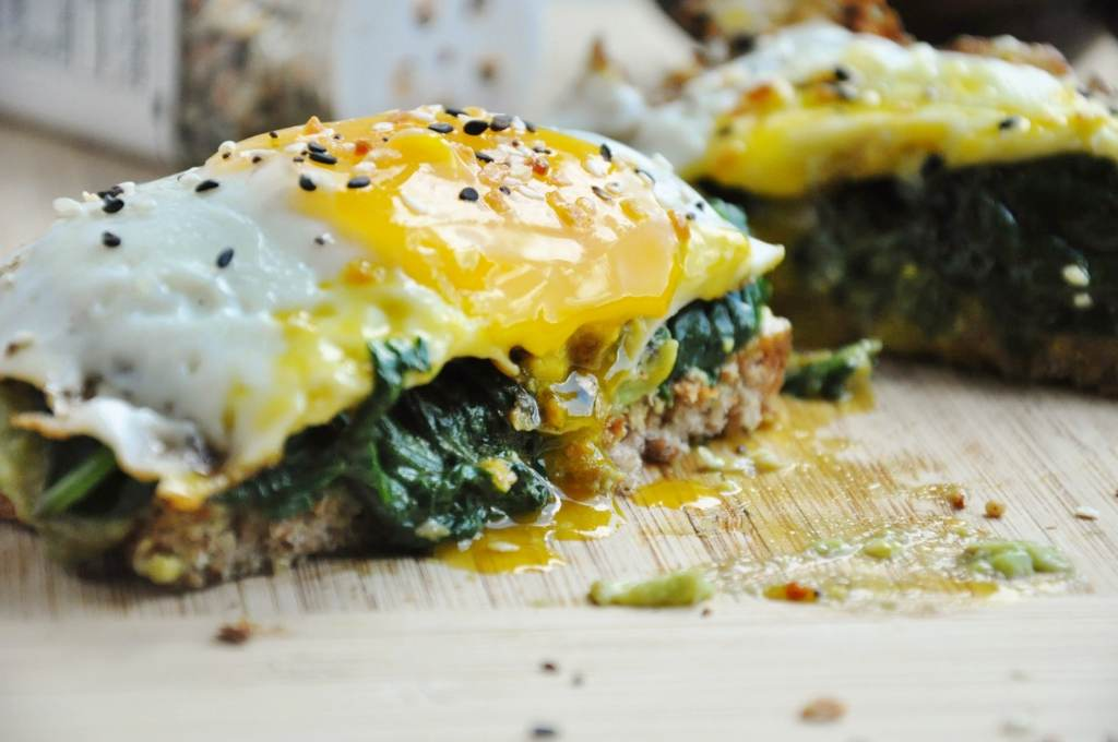 Avocado Toast with Spinach & Egg ~ Honey What's Cooking