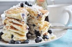 Blueberry Coconut Pancakes