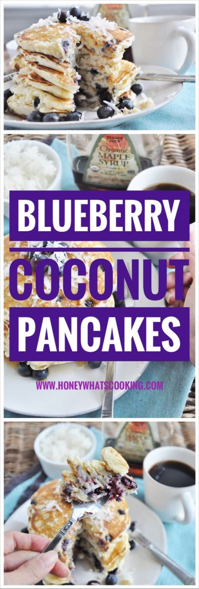 Blueberry Coconut Pancakes