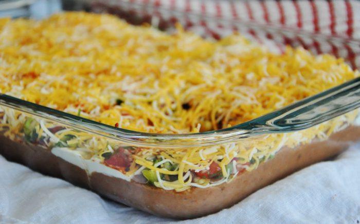5 layer Mexican Bean Dip