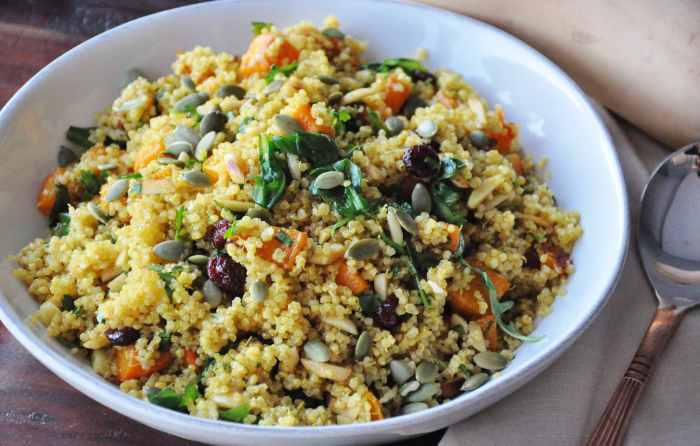 Curry Roasted Butternut Squash Quinoa Salad