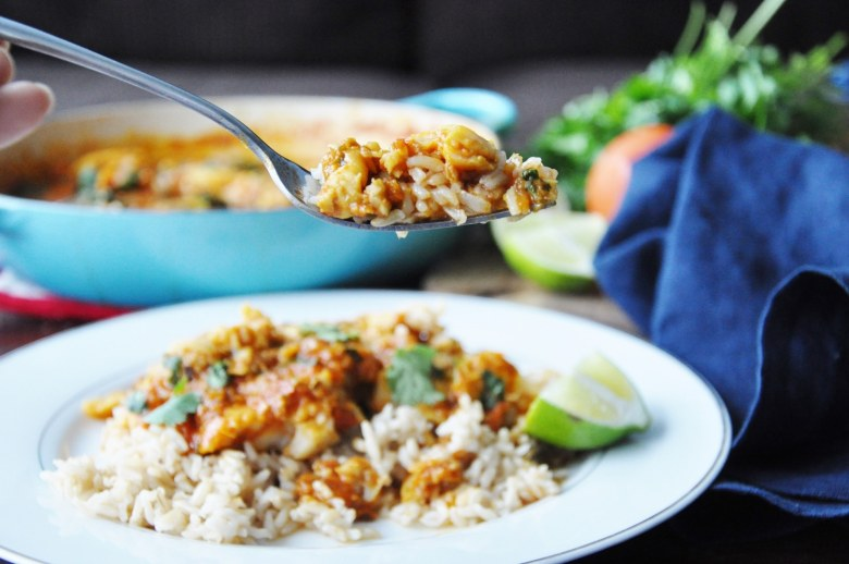 Spicy Fish Masala (healthy, paleo, gluten-free, dairy-free)