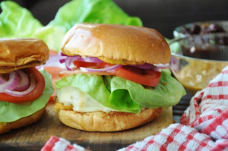 Spicy Mexican Turkey Burger + Vegan Chipotle Cream Sauce