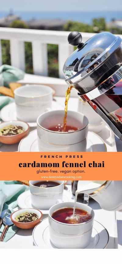french press cardamom fennel chai
