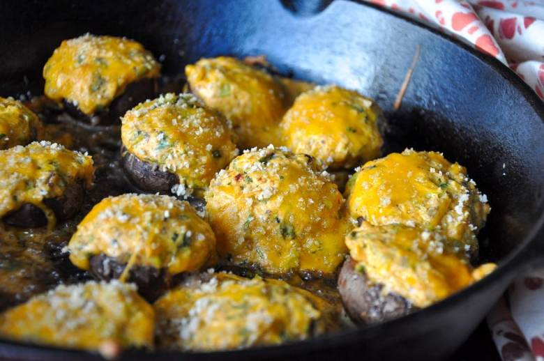 Mexican Stuffed Mushrooms (gluten-free option, vegan option)
