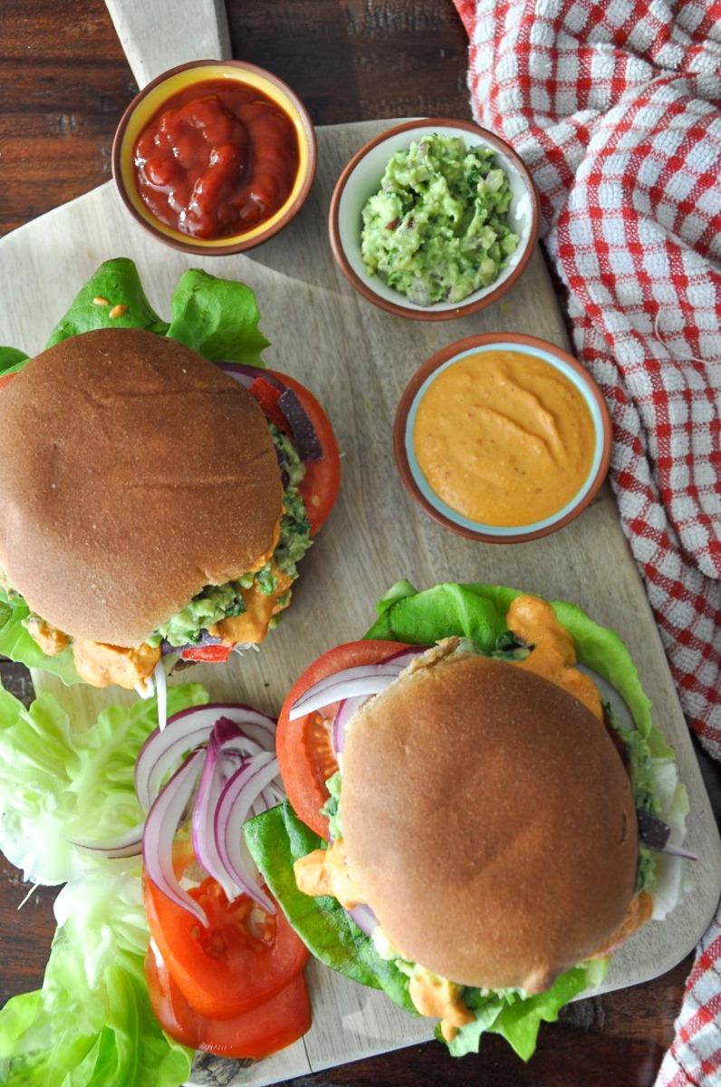 Sweet Potato Black Bean Burger (vegan, healthyish)