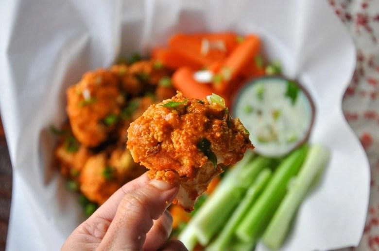 Baked Buffalo Cauliflower Wings (vegan, paleo, gluten-free)