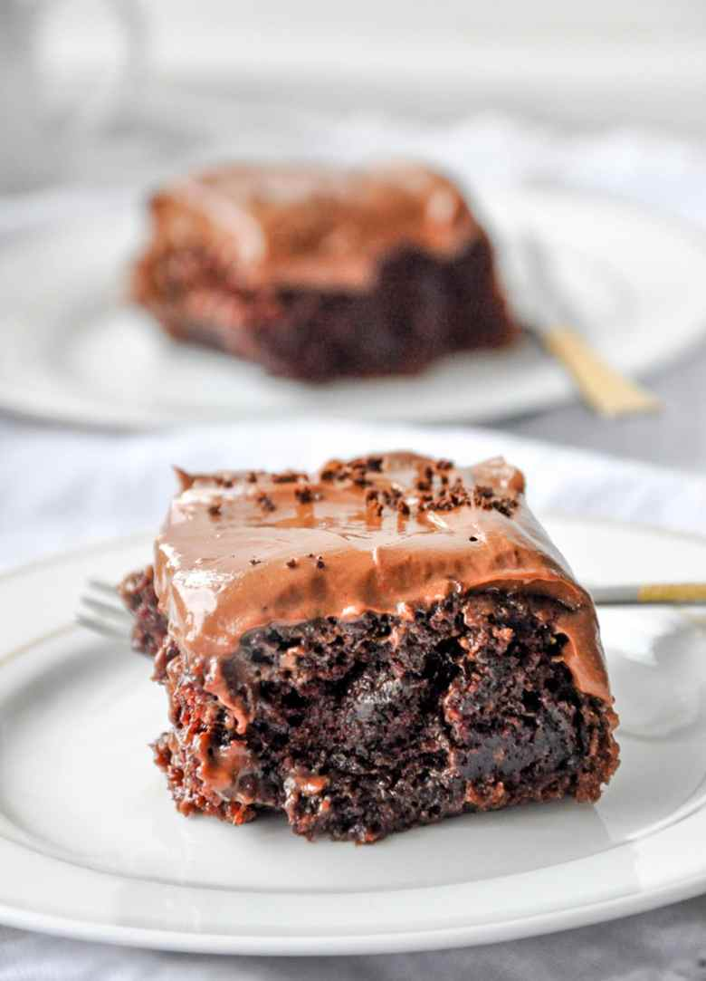 Depression Chocolate Cake with Mocha Buttercream (eggless, gluten-free)