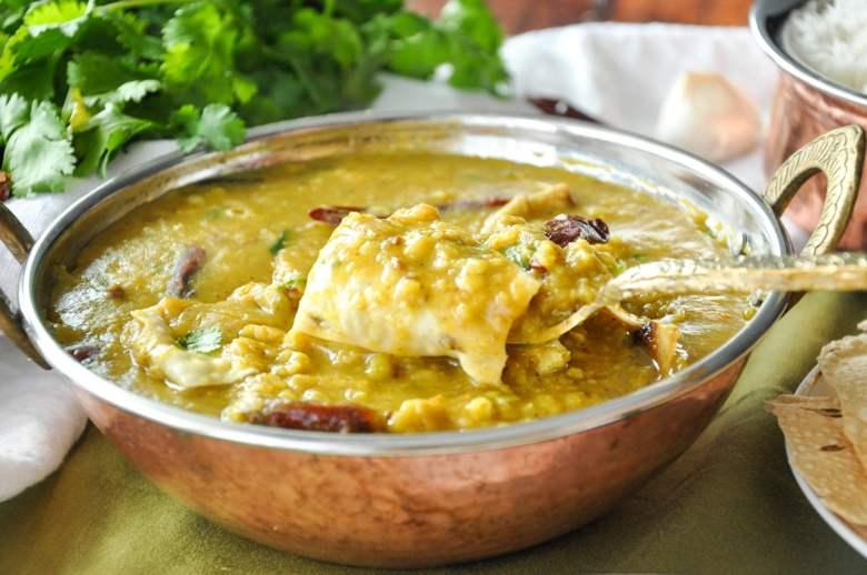 Papad wali Dal (vegan, gluten-free, healthy)