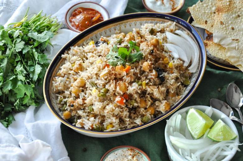 Vegetable Pulao Instant Pot (vegan, gluten-free)