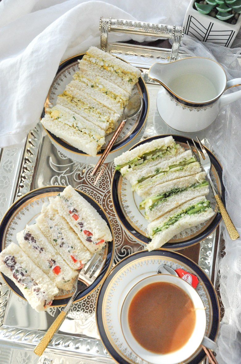 Tea Party Sandwiches (Indian-inspired, vegetarian)