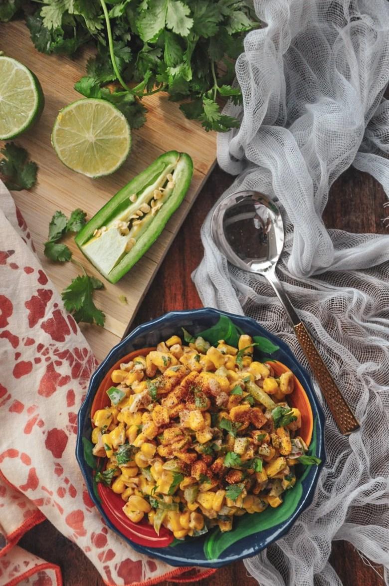 Mexican Street Corn Chaat (vegetarian, gluten-free)