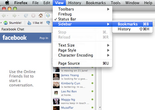fchat03 How to Place Facebook Chat On Firefox Sidebar